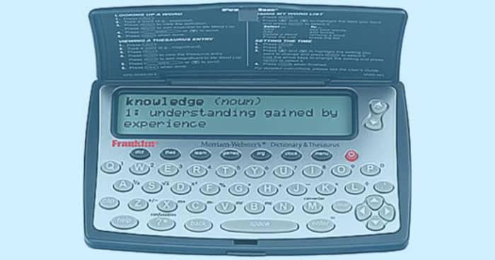 Franklin Webster digital dictionary.